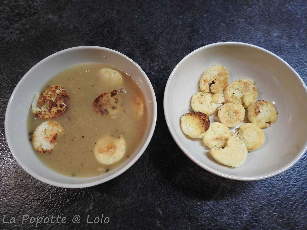 Soupe Forestière au boudin blanc et son chapeau (recette express)