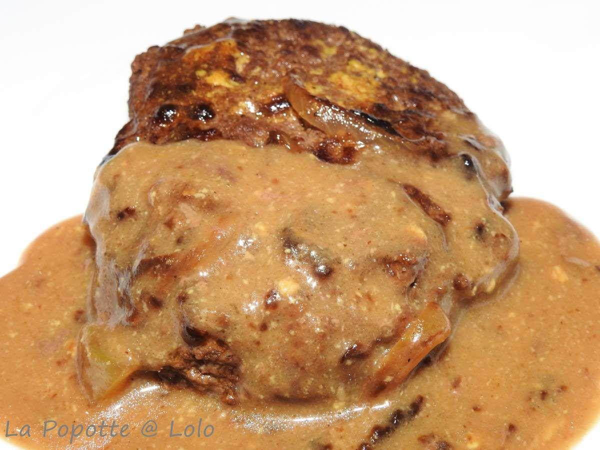 Steacks hachés à la moutarde au cookeo