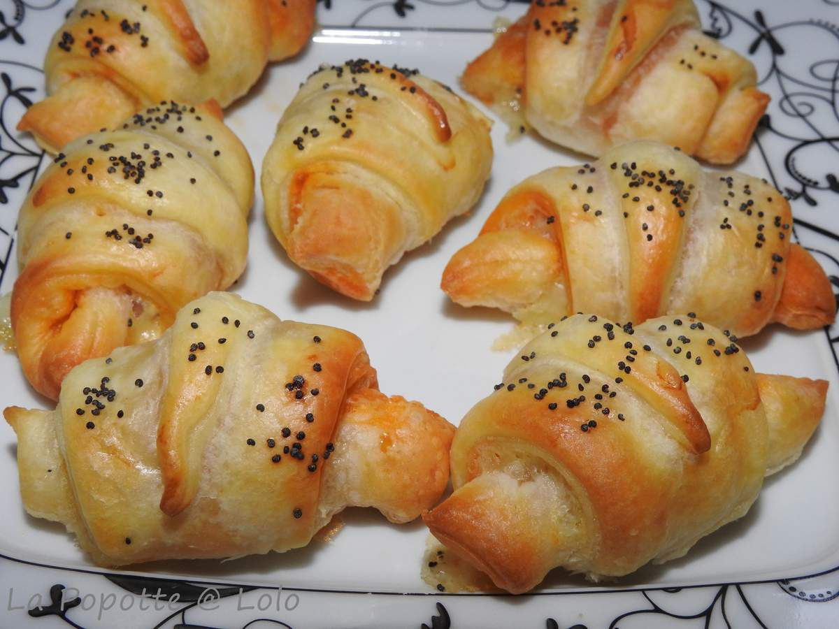 Minis croissants chorizo et brebis