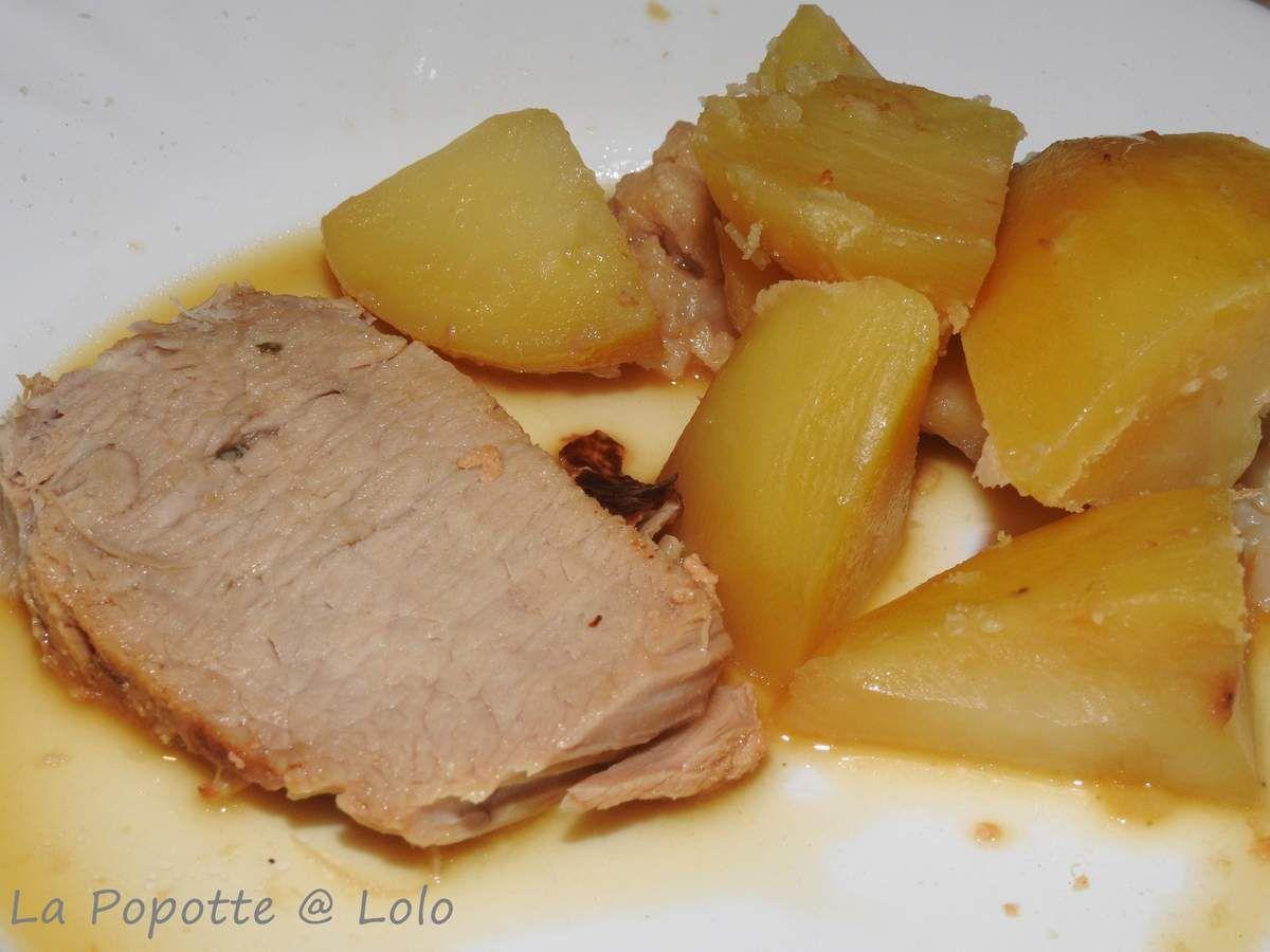 Cochon au Lait et ses pommes de terre au Cookeo (rôti de porc au lait)
