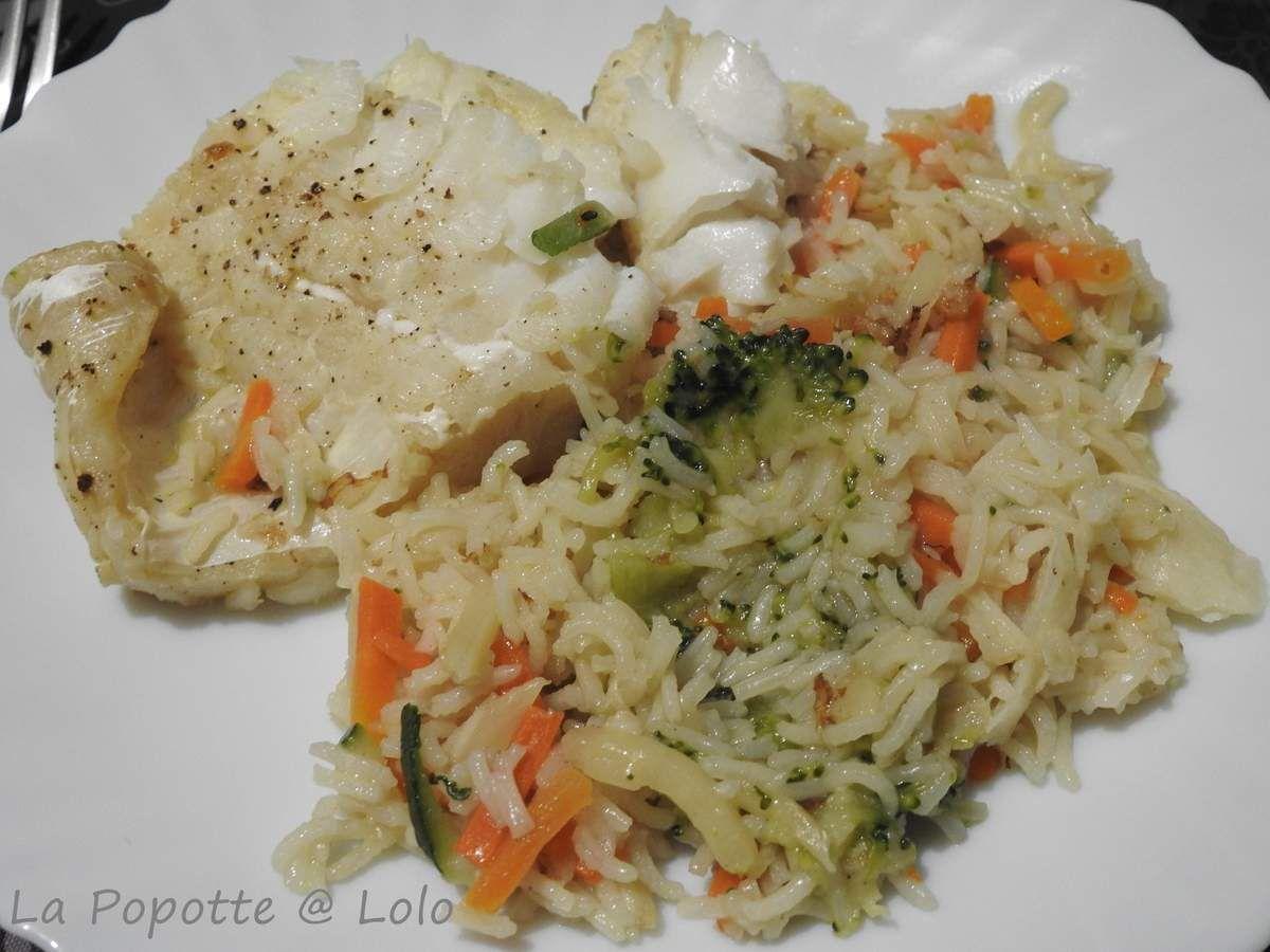 Filet de Julienne, riz et ses légumes (cookeo ou pas)