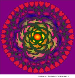 Mandala à coloriser