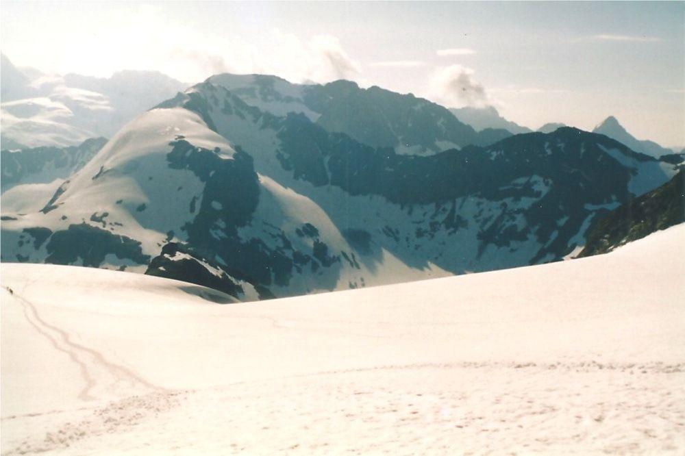Descente sur le glacier d'Arolla