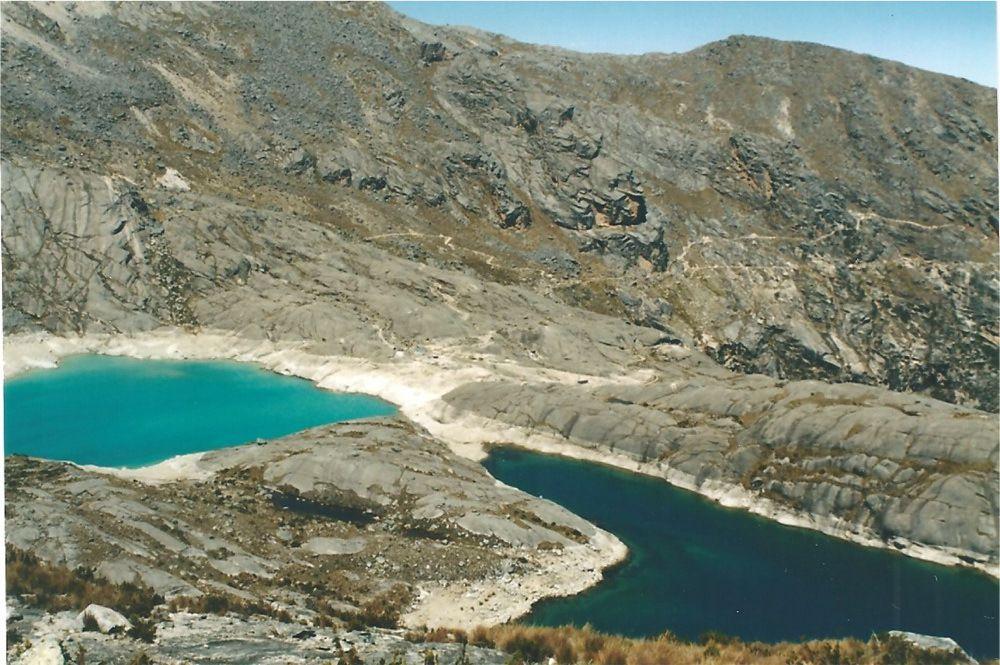 Les deux lacs de la lagune de Cullicocha