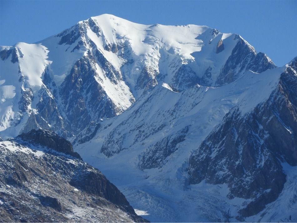 Du col de la Cicle vue sur le Mont Blanc
