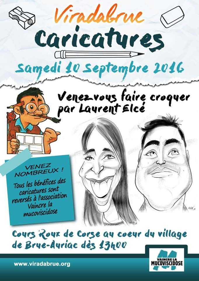 Animation caricatures à Brue Auriac :)