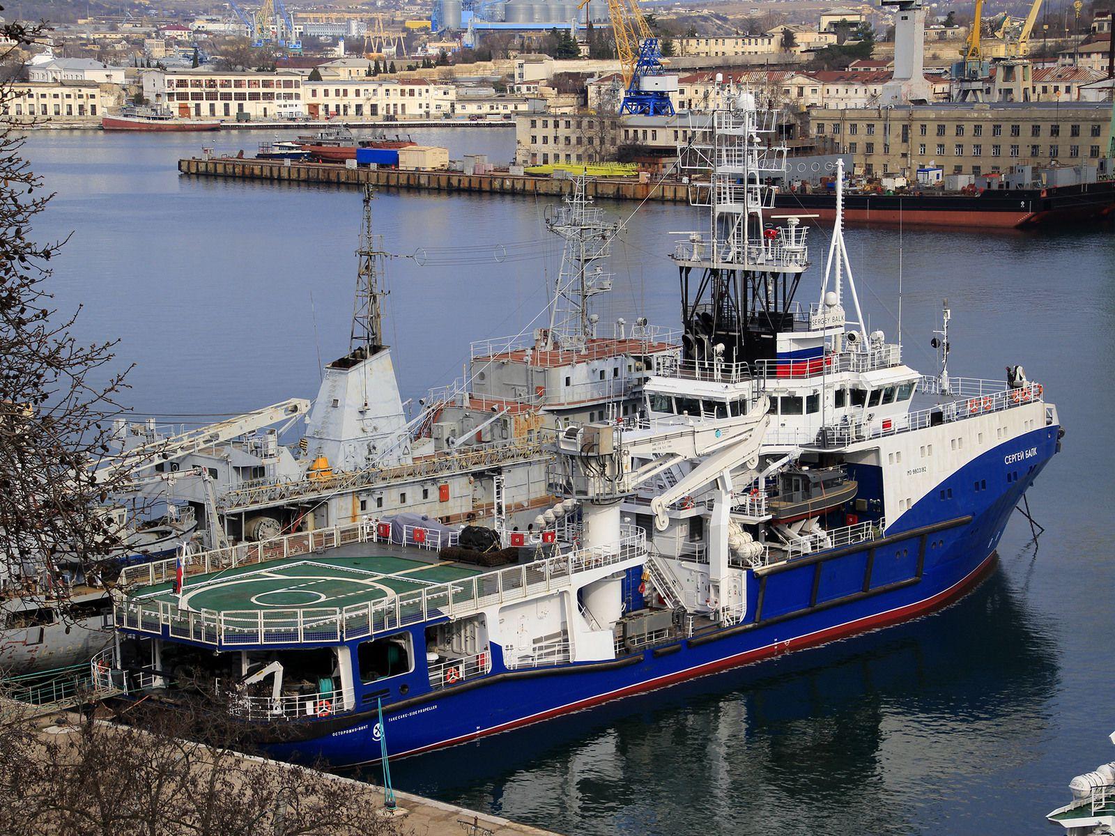 Le Sergueï Balk à quai à Sébastpol, 20 février 2020. Source : site de la flotte de la mer Noire.