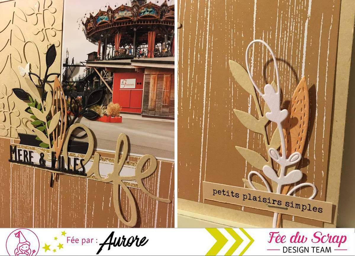 Aur0re_2 pages en Fée Du Scrap