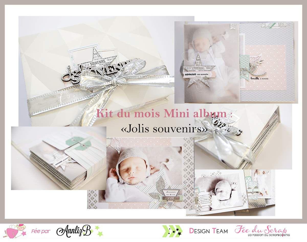 """AnnLiz : Kit du mois Mini Album """"Jolis souvenirs"""""""