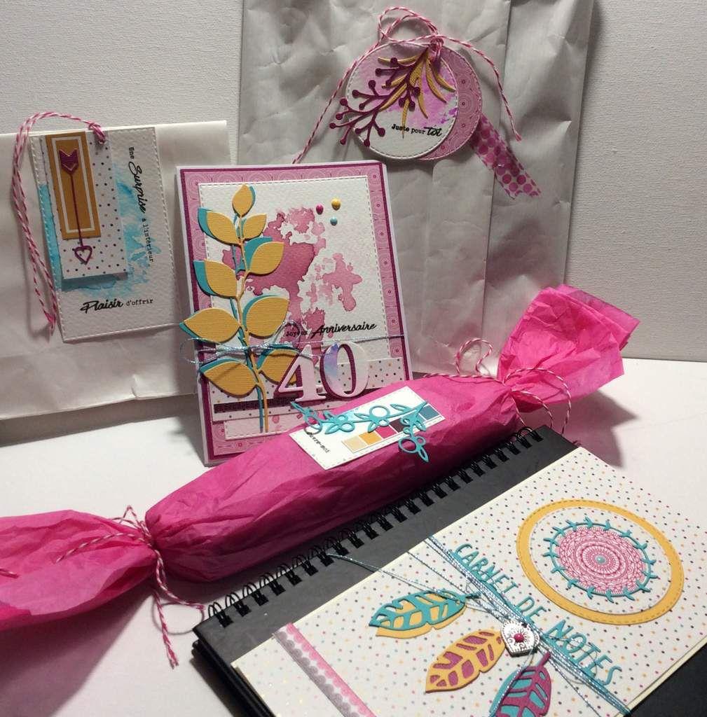 Nathaly : Un ensemble cadeaux et quelques cartes.