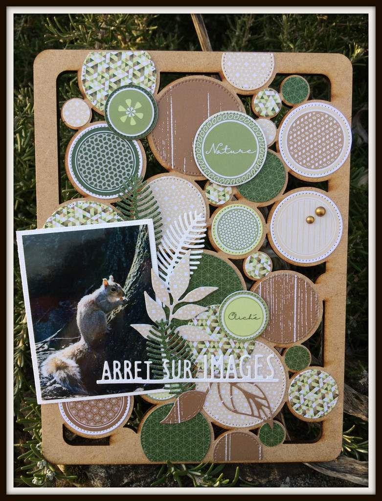 """Barbara : Cadre Plaque Ronds """"Arrêt sur Images"""""""