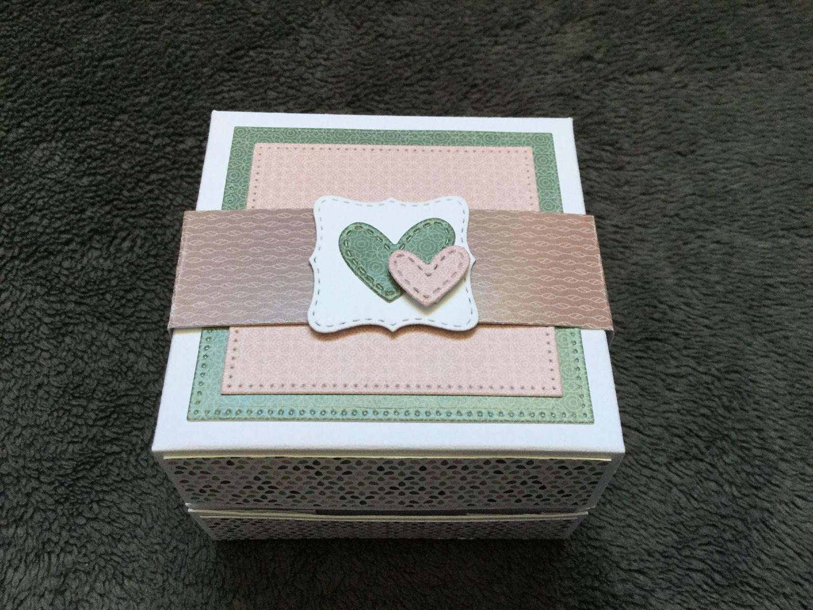 Des petites boites pour la fête des mères par Sandrine