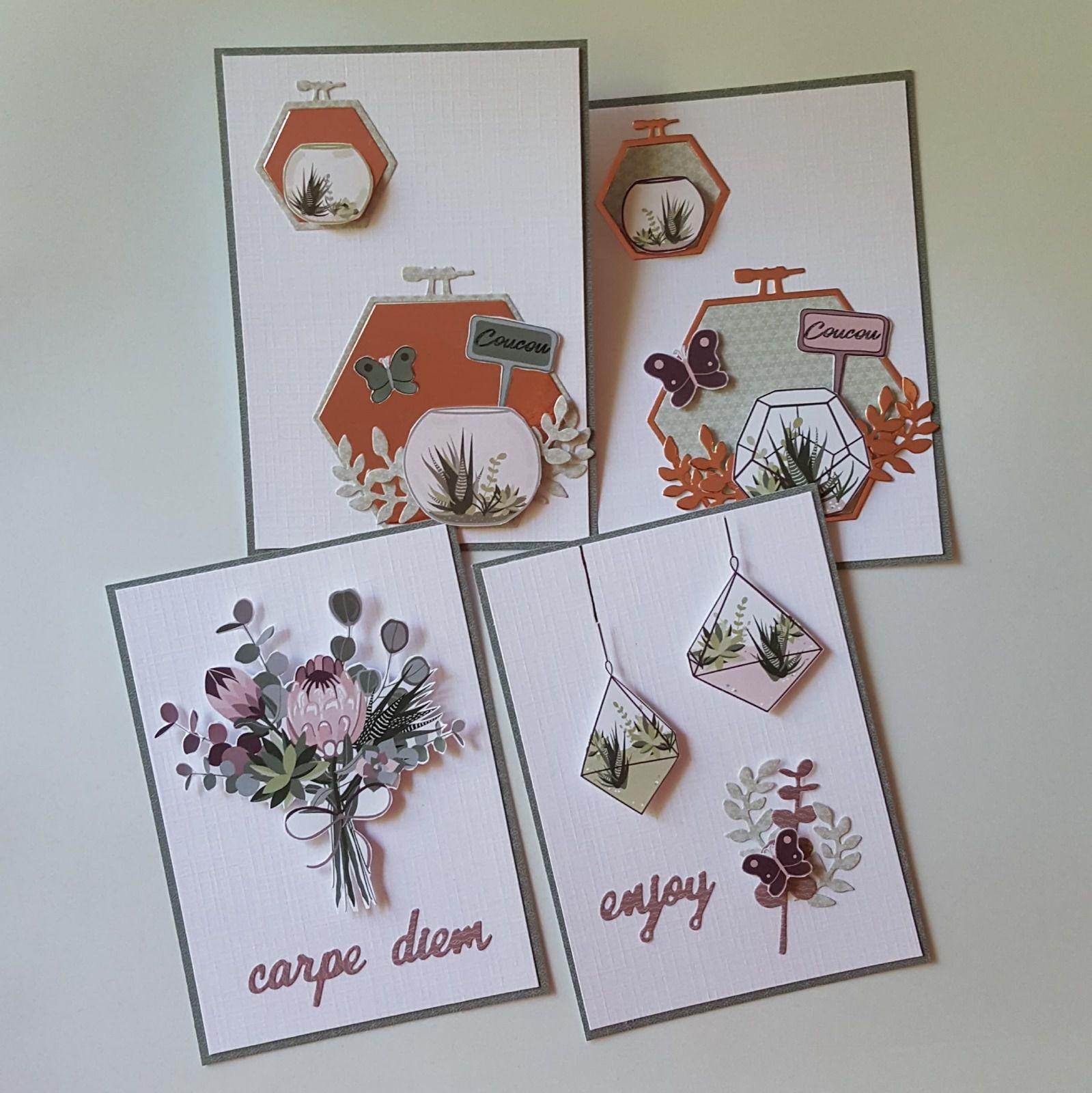"""Julie - Des cartes """"Un air botanique"""""""