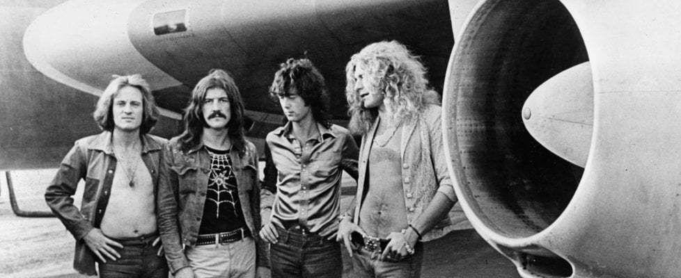 """""""Led Zeppelin, il dirigibile che cinquant'anni fa ha rivoluzionato il rock"""" (Led Zeppelin, le dirigeable qui a révolutionné le rock il y a cinquante ans)"""
