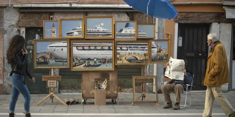 "Banksy, ""Venise in oil"" (art)"