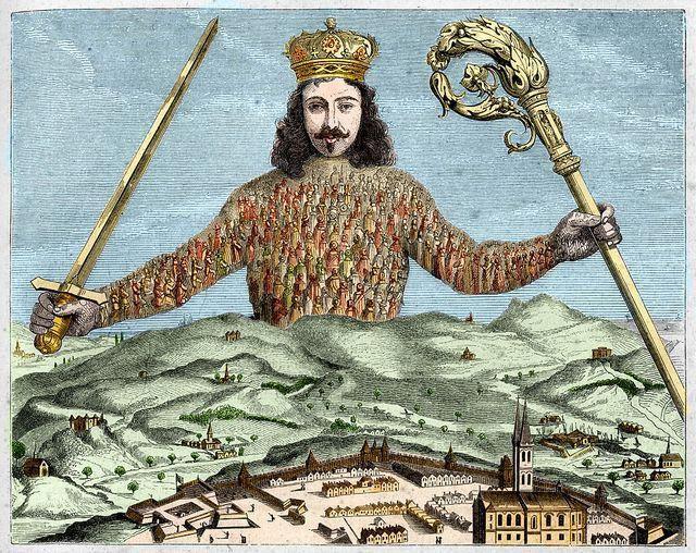 """Le frontispice du """"Léviathan"""" de Thomas Hobbes (1651)"""