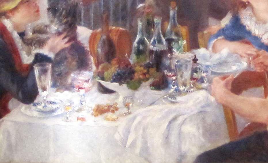"""Le bonheur dans """"Le déjeuner des canotiers"""" (Pierre-Auguste Renoir, 1880) - sections techno"""
