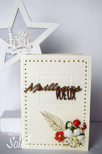 Cartes de vœux en blanc et rouge...