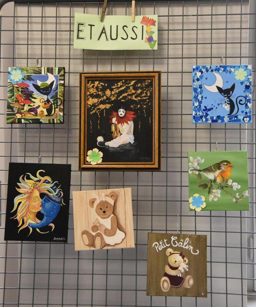 Peinture acrylique et paysanne