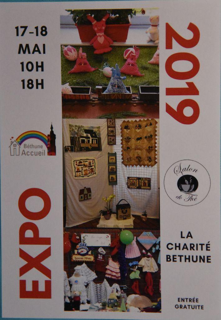 EXPOSITION DES TRAVAUX DE L'ASSOCIATION BETHUNE ACCUEIL
