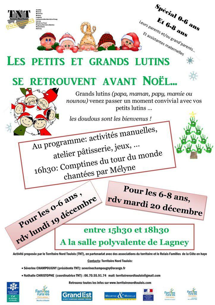 Les petits et grands lutins se retrouvent avant Noël....les 19 et 20 décembre 2016