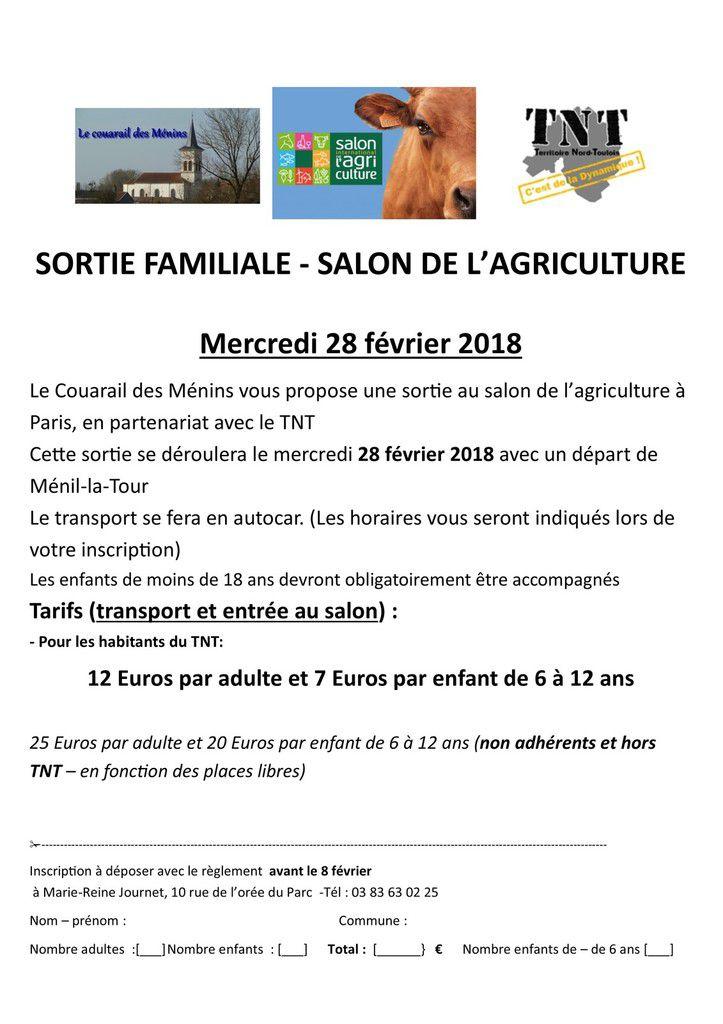 Sortie salon de l'agriculture - mercredi 28 février 2018