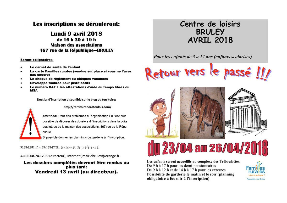 Cente de loisirs - Avril 2018 - BRULEY