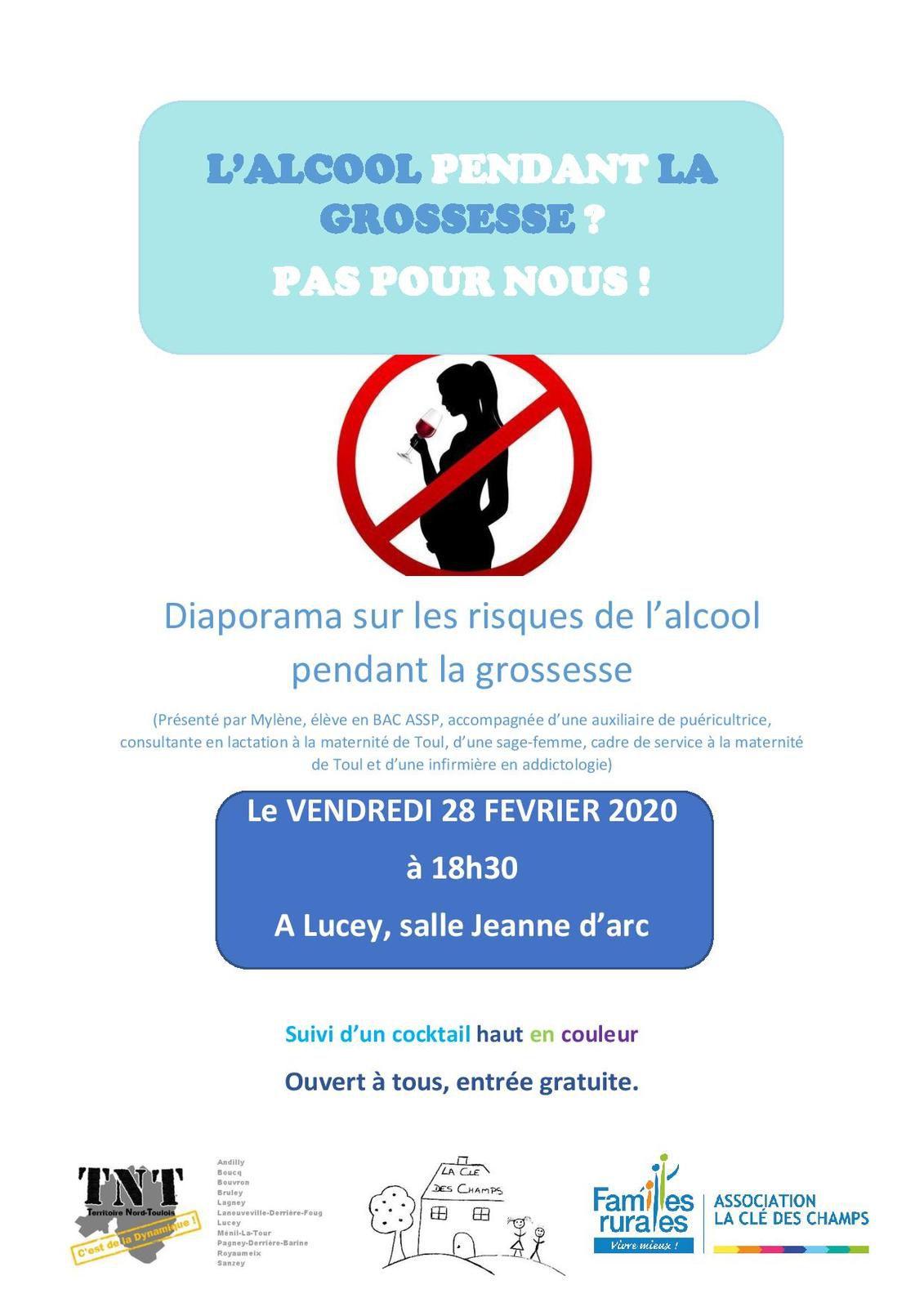 L'alcool et la grossesse.. (échanges, diaporama, cocktails...) - Vendredi 28 février 2020 à Lucey
