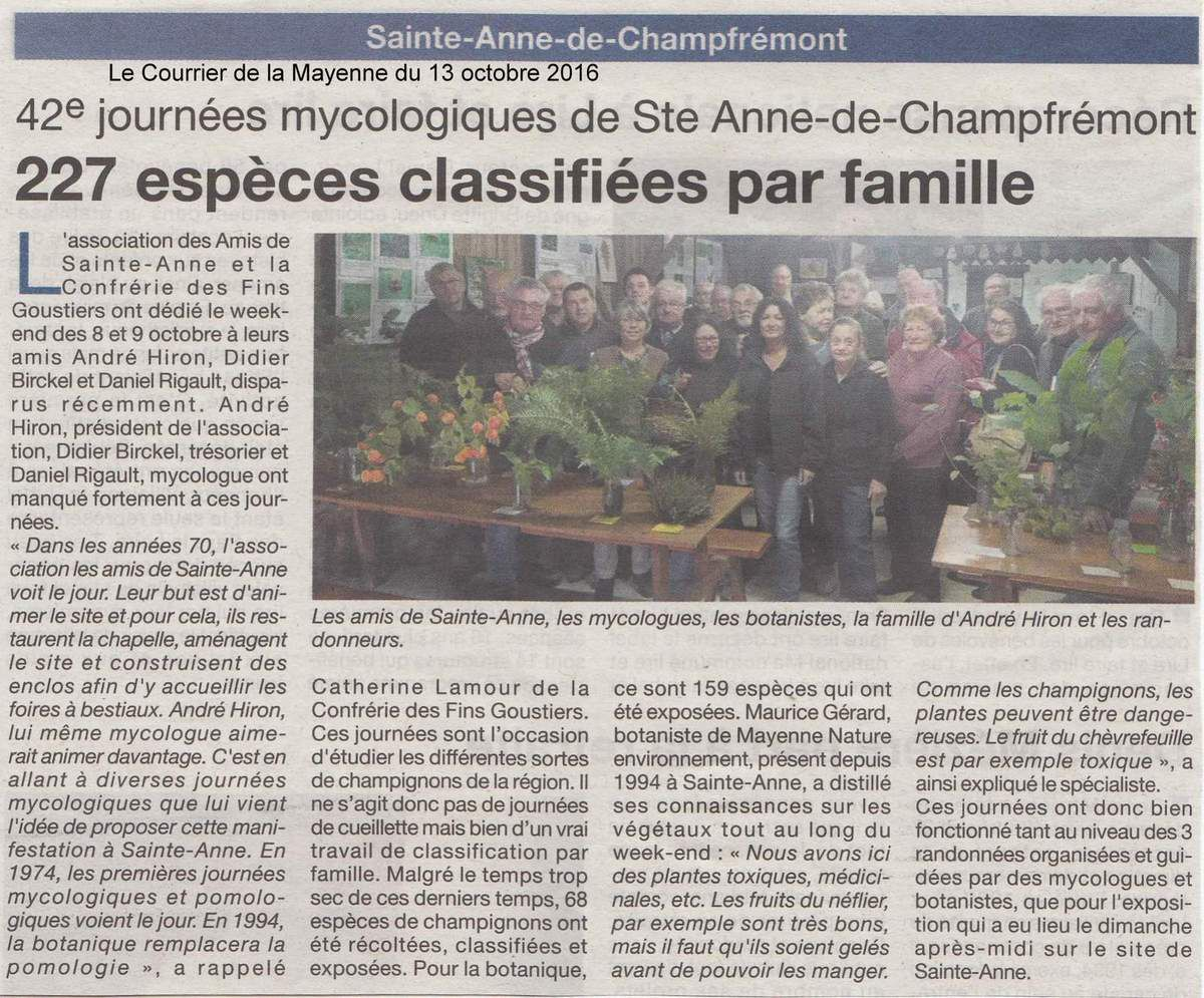 42es journées mycologiques et botaniques de Champfrémont