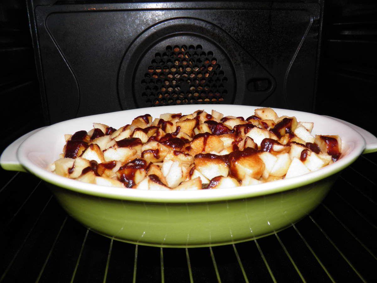 Pommes cuites au four au pommé et au cidre frais