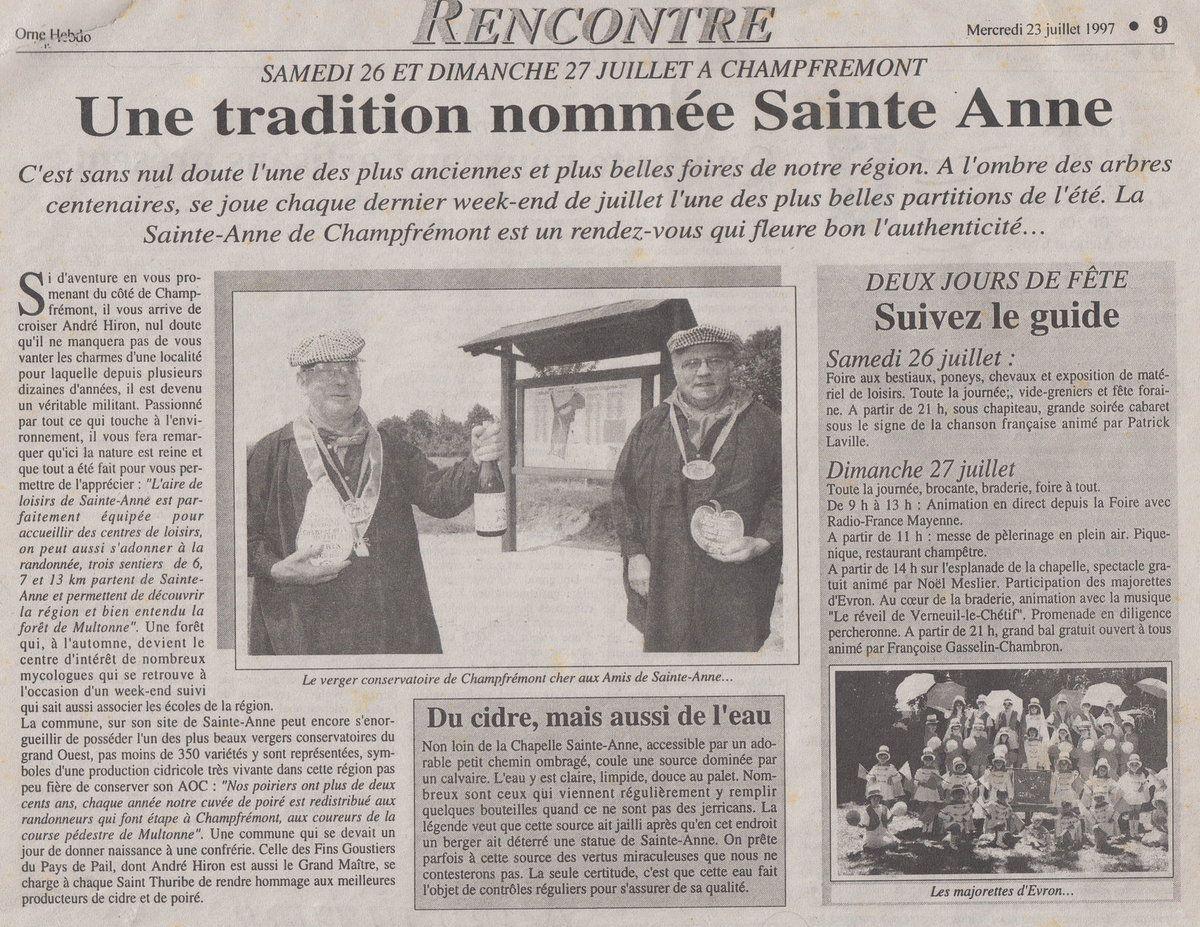Article de l'Orne Hebdo du 17 avril 1997.