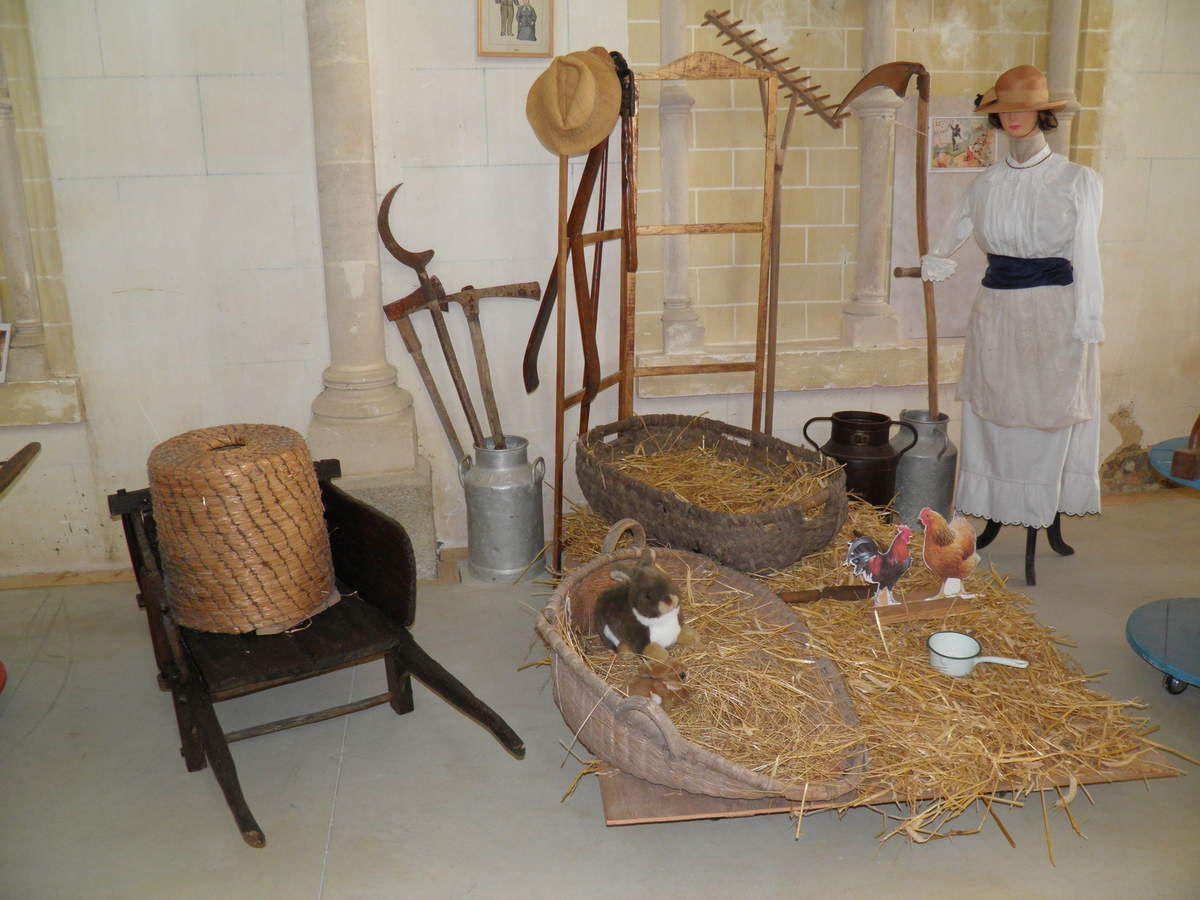 Une des saynètes illustrant la vie du village autrefois.