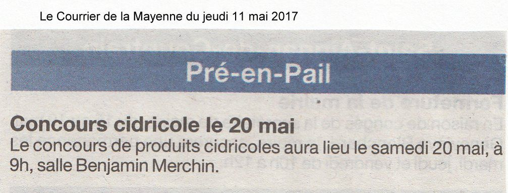 Le Courrier de la Mayenne du 11 mai 2017