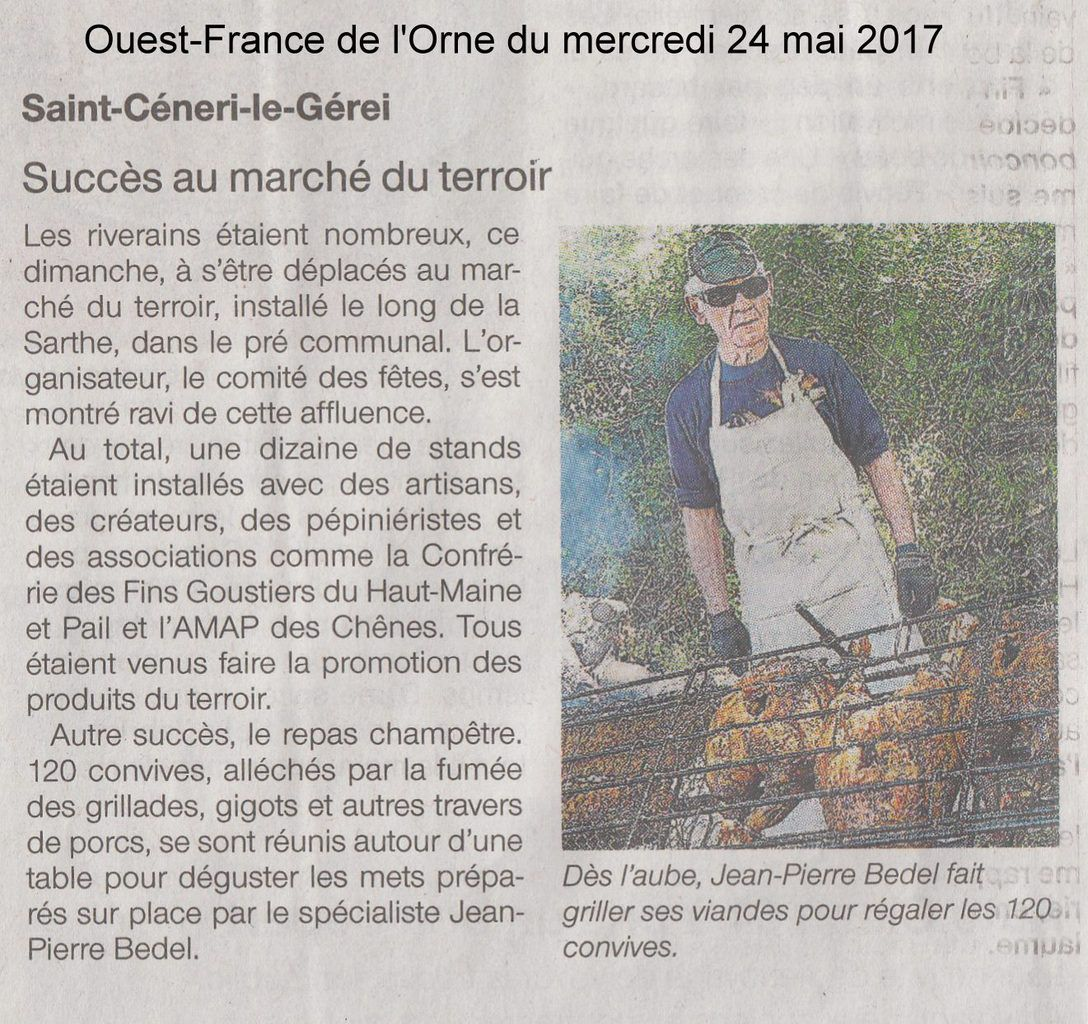 L'article de Ouest-France du mardi 24 mai.