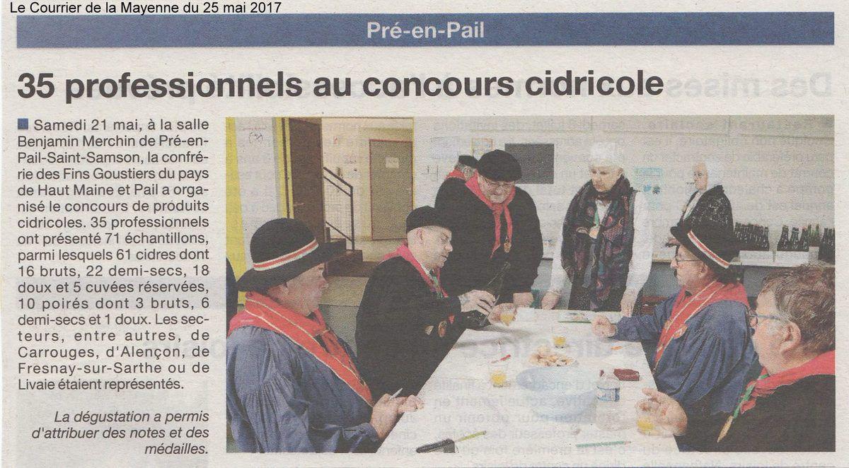 Le Courrier de la Mayenne du 25 mai 2017.