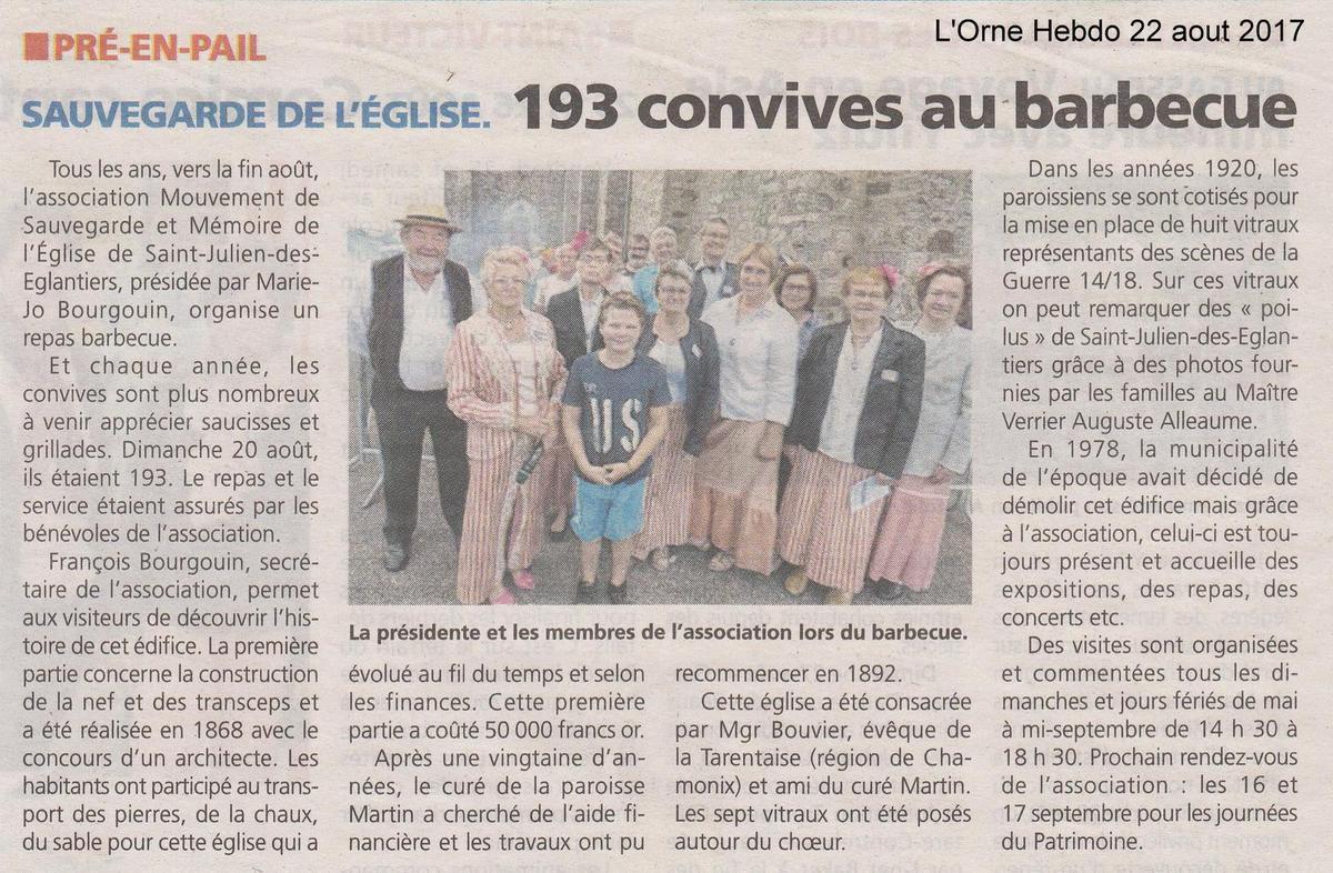 L'Orne Hebdo du 22 aout 2017.