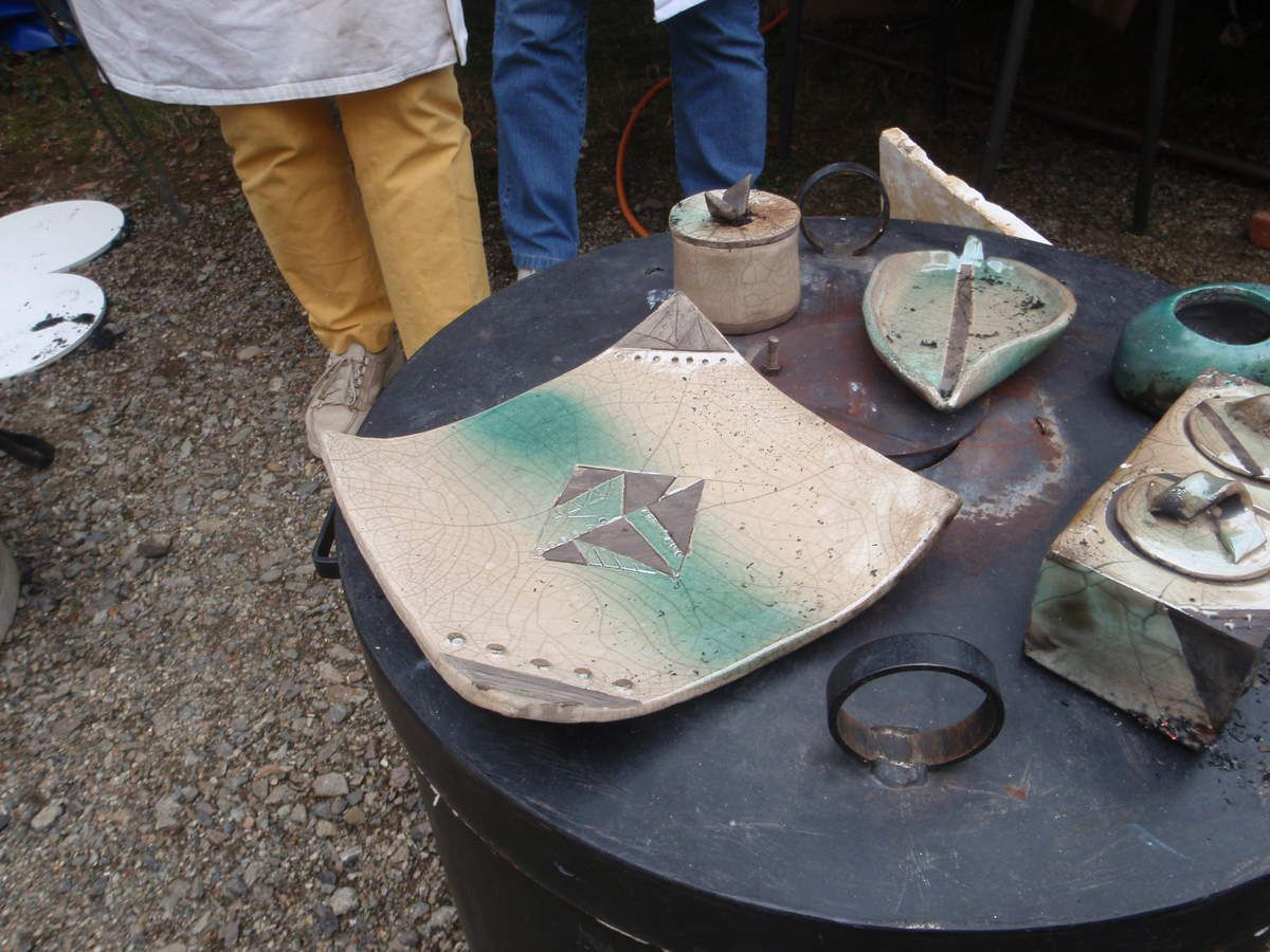 "Une poterie ""Raku""."