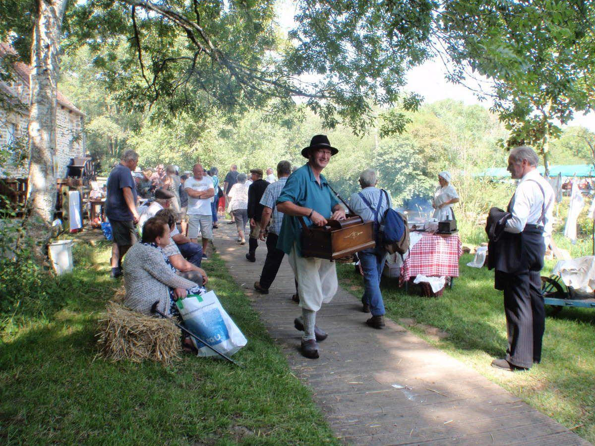 La fête des vieux métiers sur le site de Trotté en aout 2011.