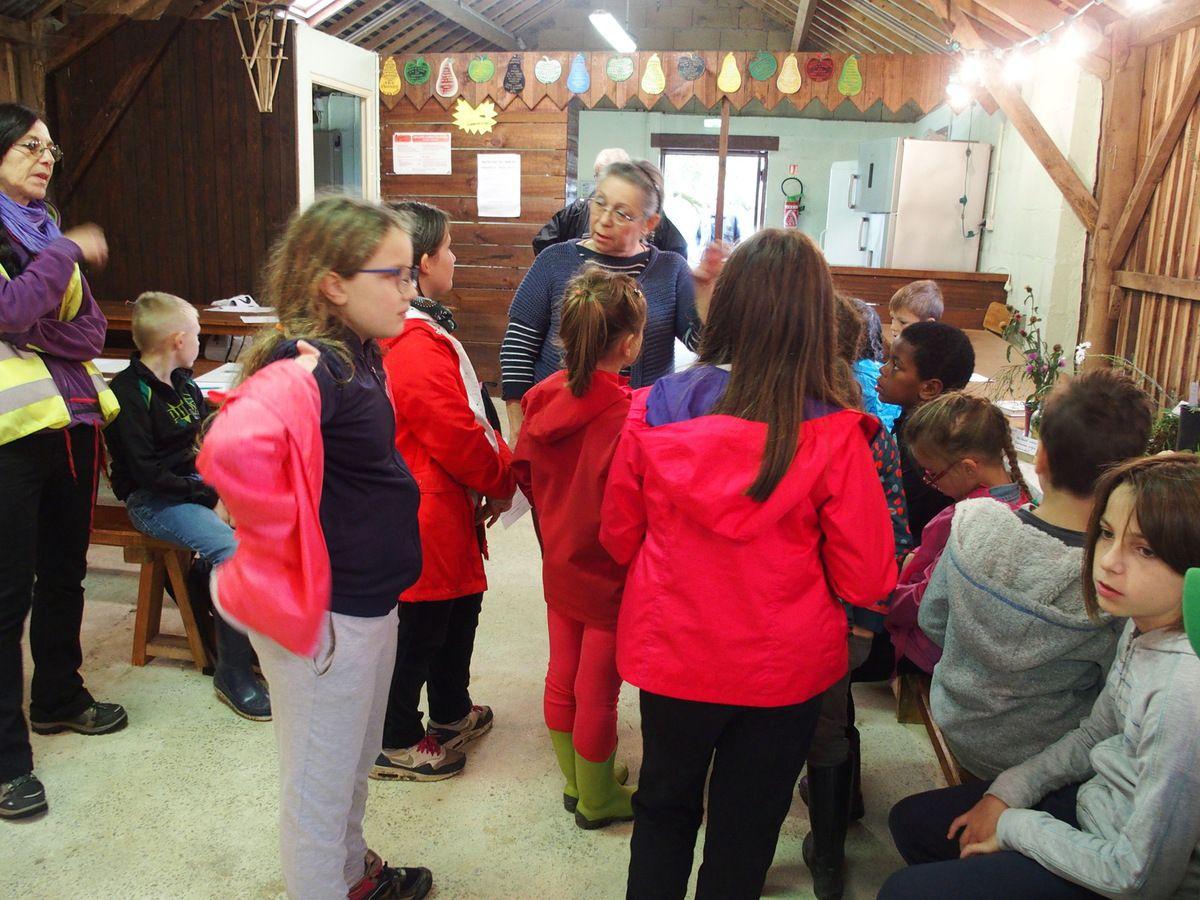 Dans le Campot, Catherine Lamour présente la botanique à un autre groupe.