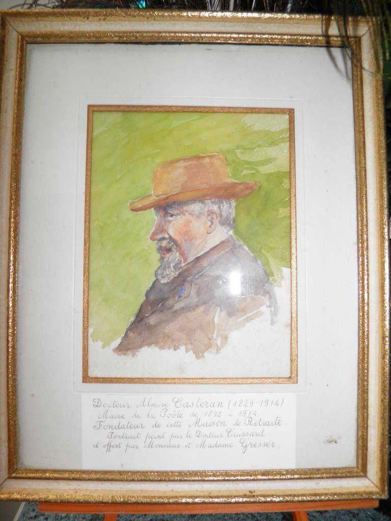 Le portrait du docteur Almire Casteran qui donne son nom à l'EHPAD de Saint-Pierre-des-Nids.
