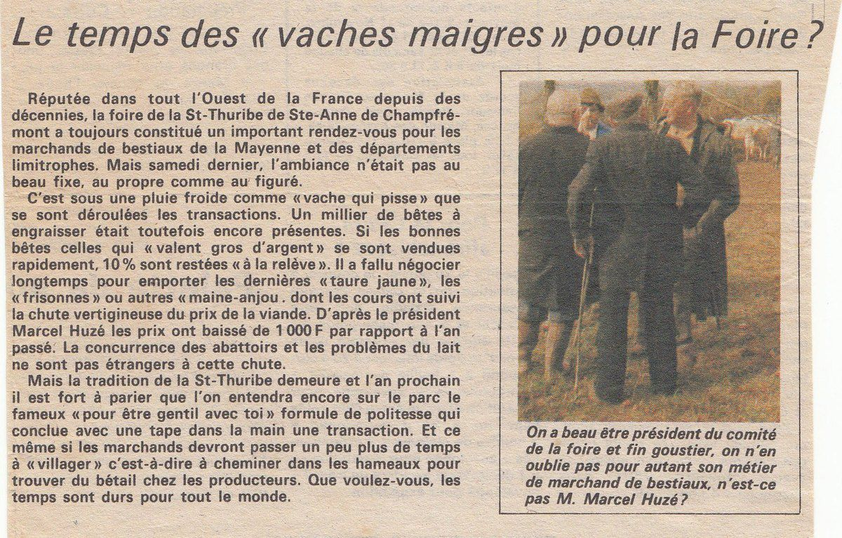 Le Courrier de la Mayenne du 17 avril 1987.