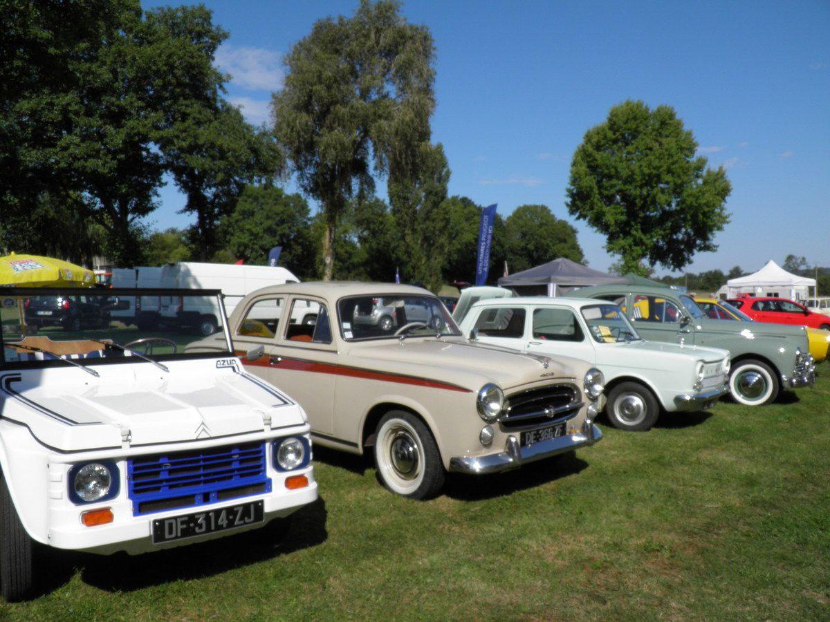 Une exposition de voitures anciennes.