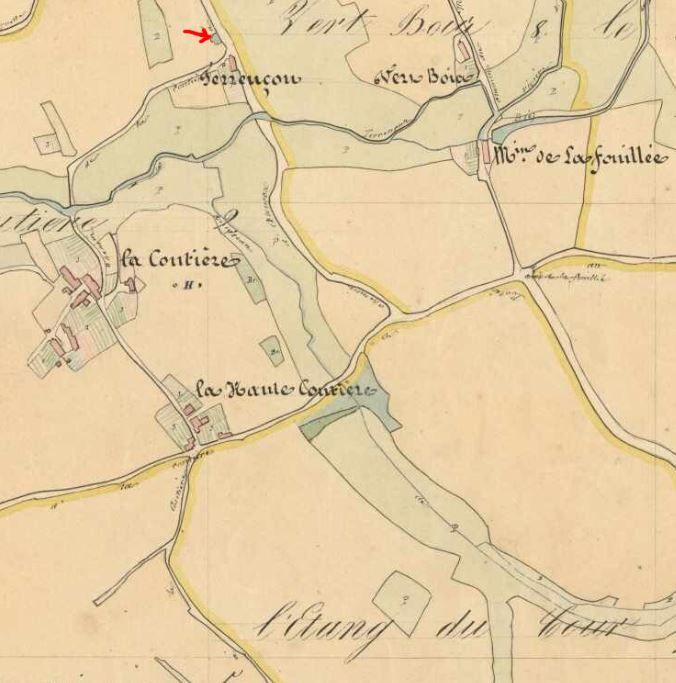 Tableau d'assemblage H de la zone Le Plessis du cadastre de 1838.