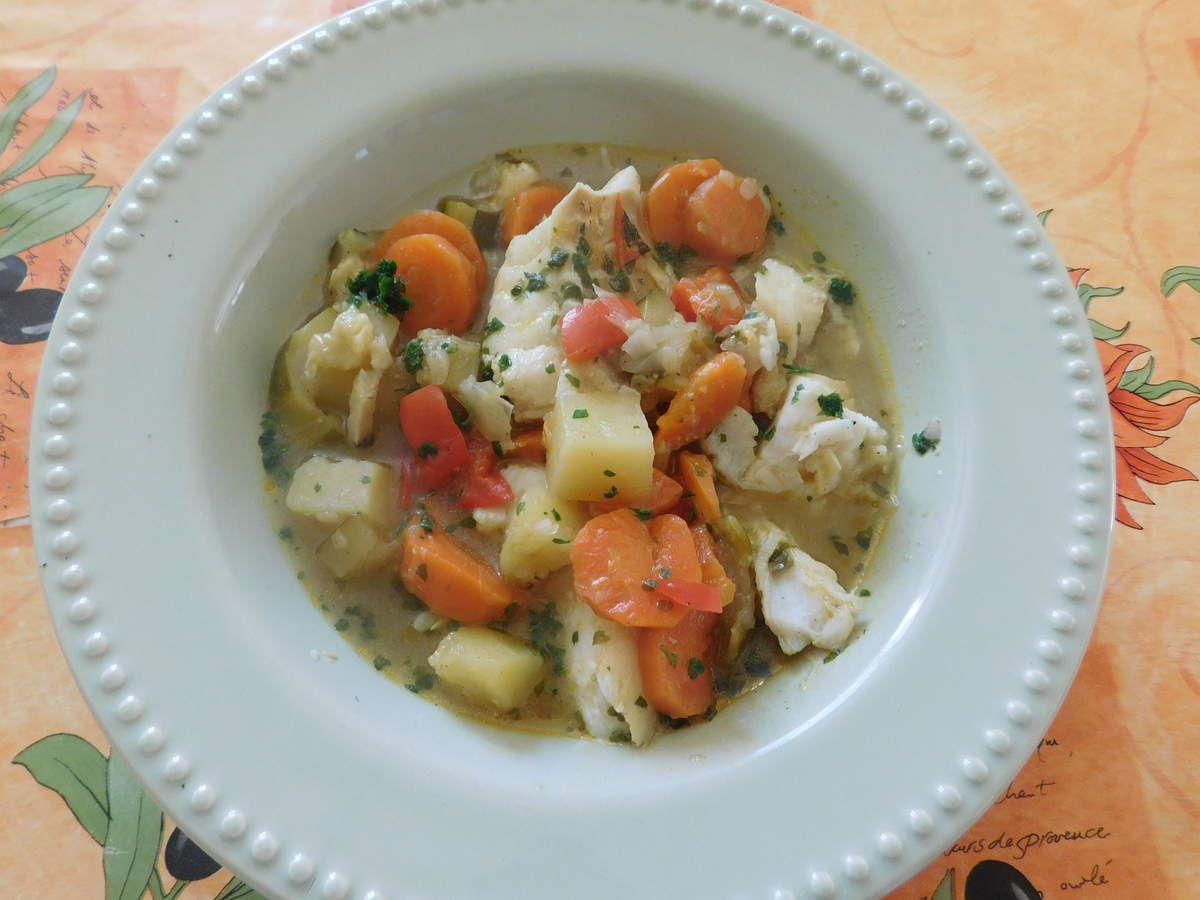 Curry de colin aux légumes