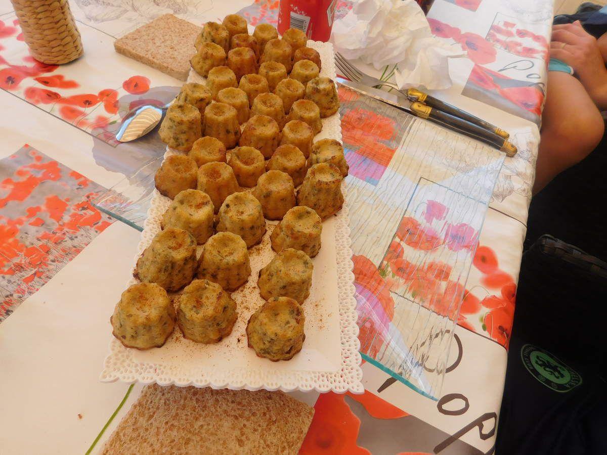 Cannelé crabe + ciboulette