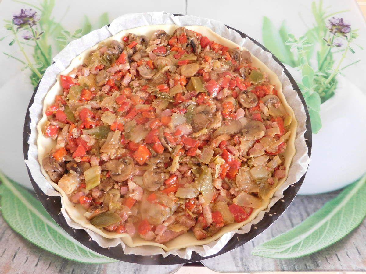 Tarte aux légumes et fromage à raclette