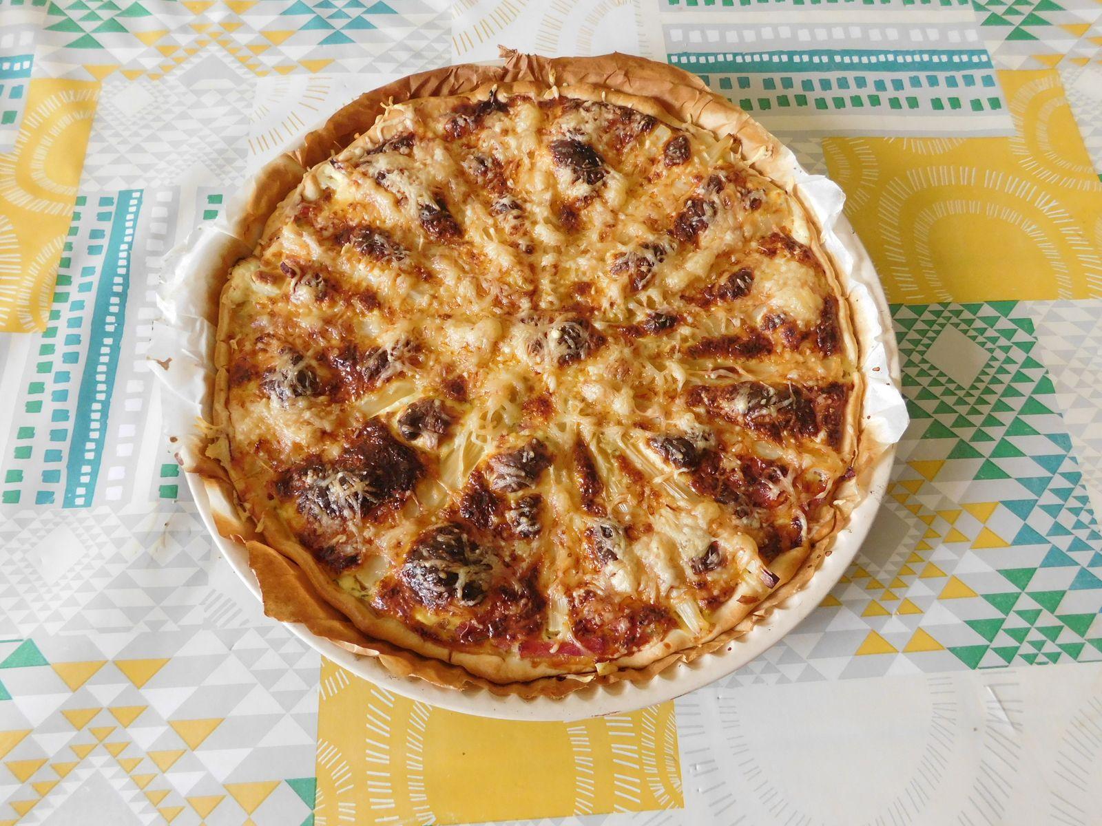 Quiche jambon , asperges et fromage frais