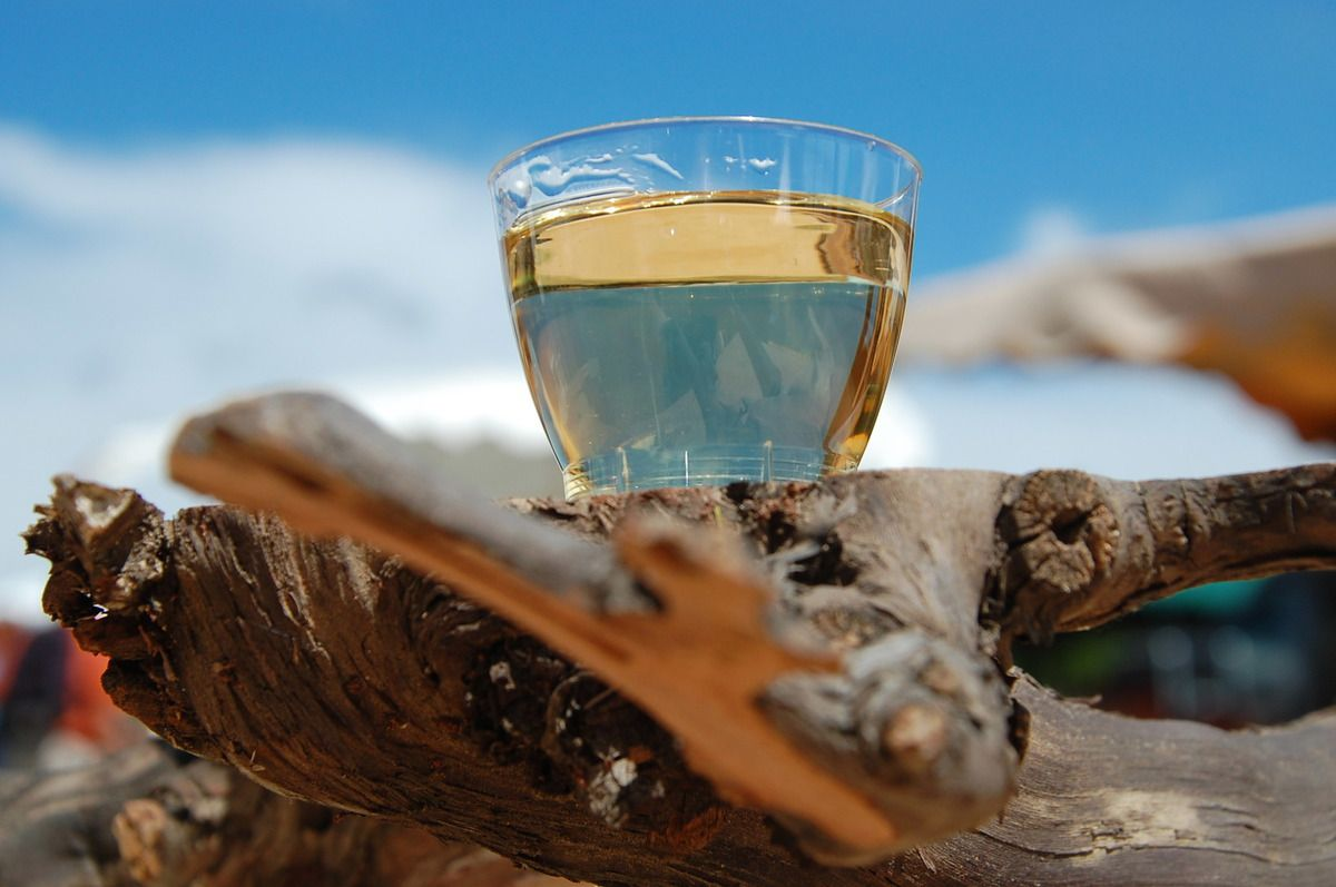 Une pause muscat, un bon verre, un muscat de la cave coopérative à boire avec modération. Comme pour moi !
