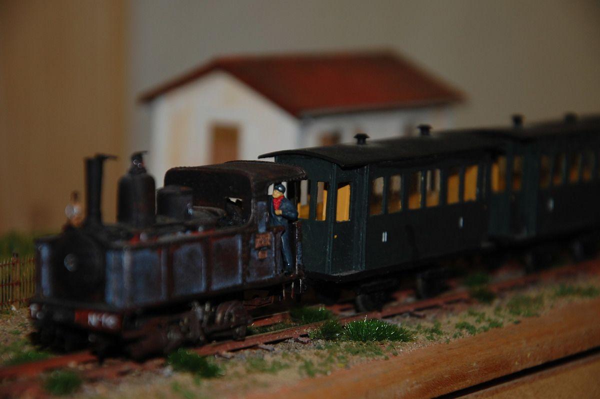 Voici l'un des trains qui était exposé.