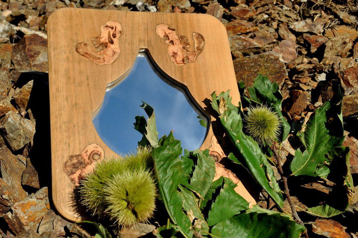 Miroir noyer et vigne (120€)